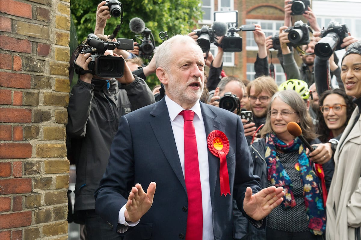 British Labour Party Leader Jeremy Corbyn in London, UK on 8 June 2017 [Ray Tang/Anadolu Agency]