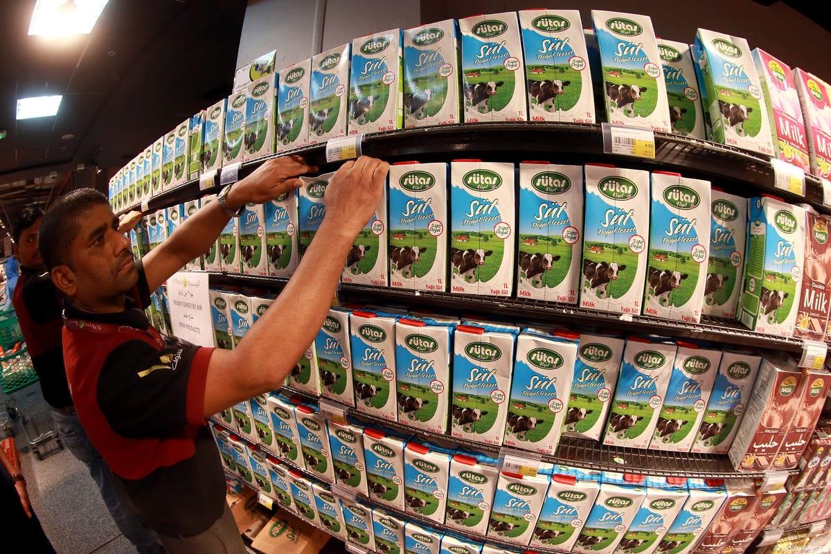 Turkish products on shelves [Mohamed Farag/Anadolu Agency]