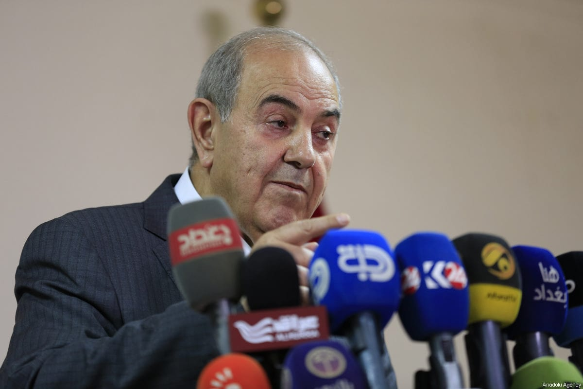 Iraq's Vice President Iyad Allawi holds a press conference in Baghdad, Iraq on June 10, 2017 [Murtadha Sudani / Anadolu Agency]