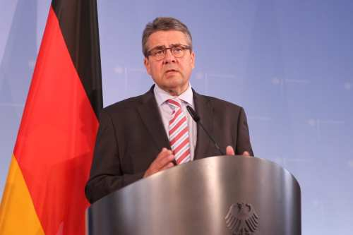 German Foreign Minister Sigmar Gabriel seen at a press conference in Berlin, Germany on 27 June, 2017 [Erbil Başay/Anadolu Agency]