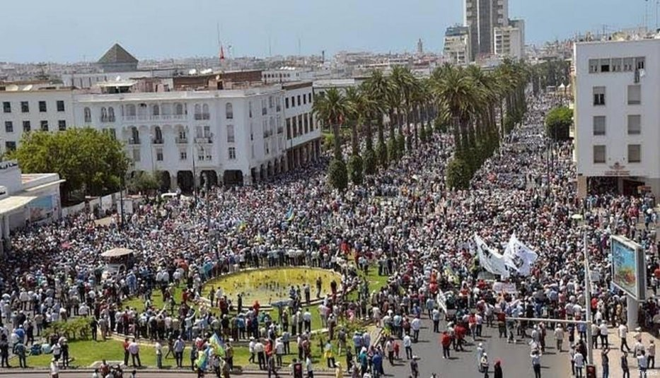 Rif protest in Rabat, Morocco on 12 June, 2017 [Twitter]