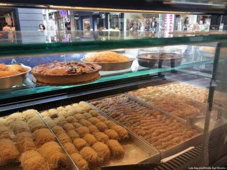 Baklava at Monastiraki flea market, Greece [Laila Ben Allal/Middle East Monitor]