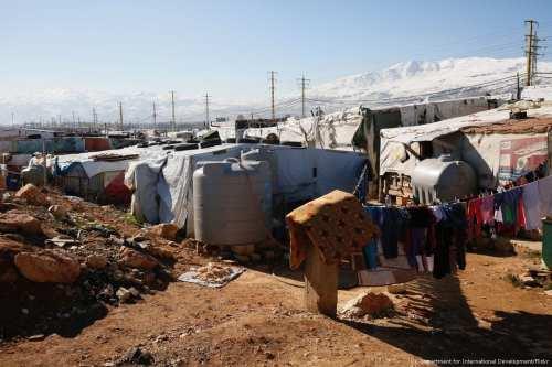 Image of a refugee camp in Jordan on 3 February 2017 [UK Department for International Development/Flickr]
