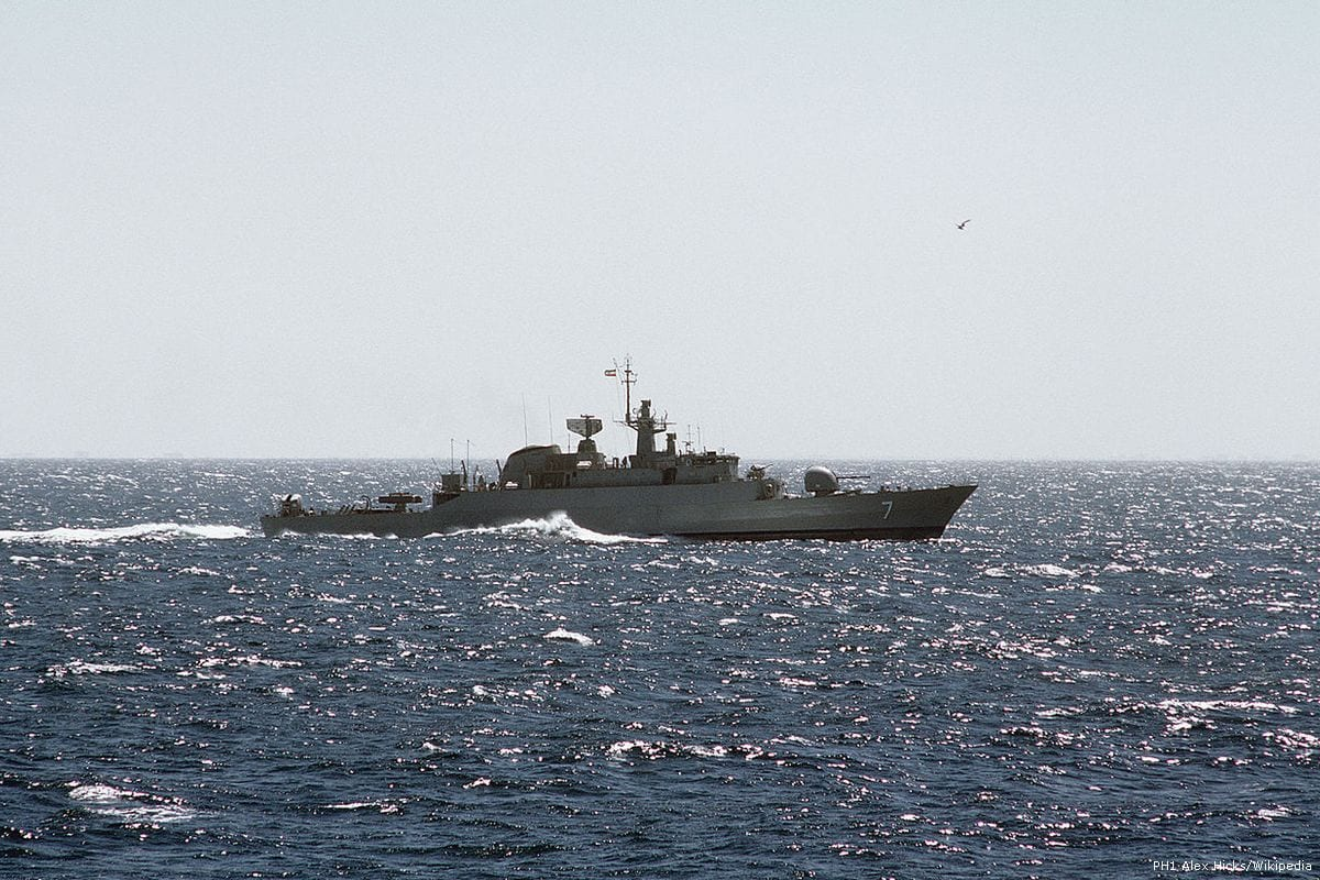 Image of an Iranian warship [PH1 Alex Hicks/Wikipedia]