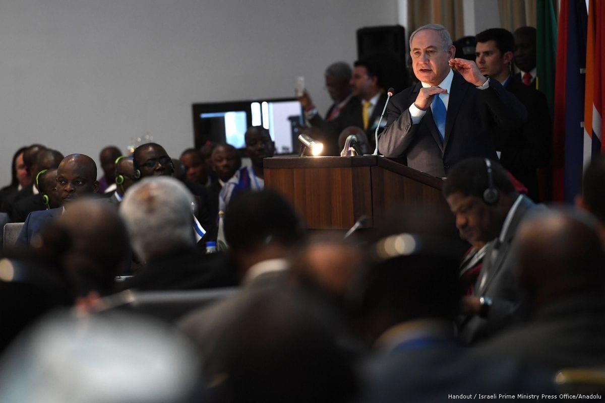 Image of Israeli Prime Minister Benjamin Netanyahu on 4 June 2017 [Handout / Israeli Prime Ministry Press Office/Anadolu Agency]