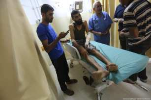 Israeli forces kill Palestinian in Gaza Strip and injure 8 others. Images by Mohammad Asad / Middle East Monitor