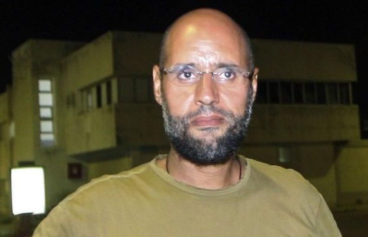 Former Libyan leader Muammar Gaddafi's son, Saif Al-Islam. [masralarabia]