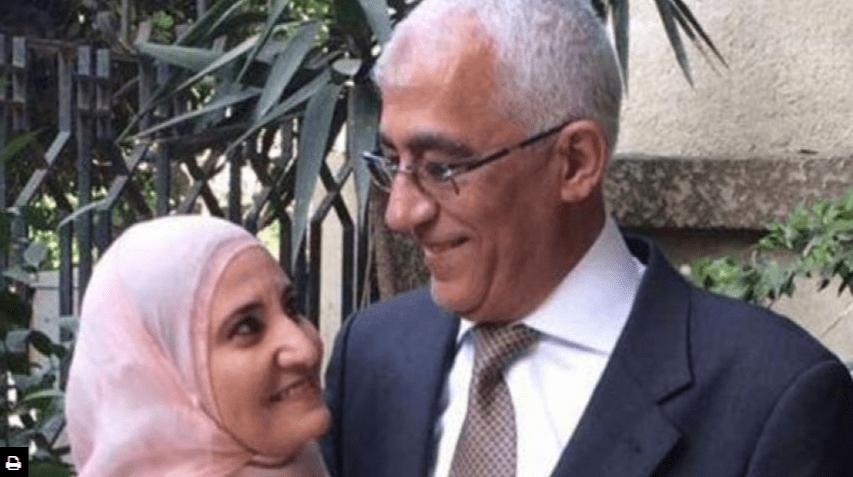 Daughter of the Chairman of the International Union of Muslim Scholars, Sheikh Yusuf Al-Qaradawi, and her husband [Safa.ps]