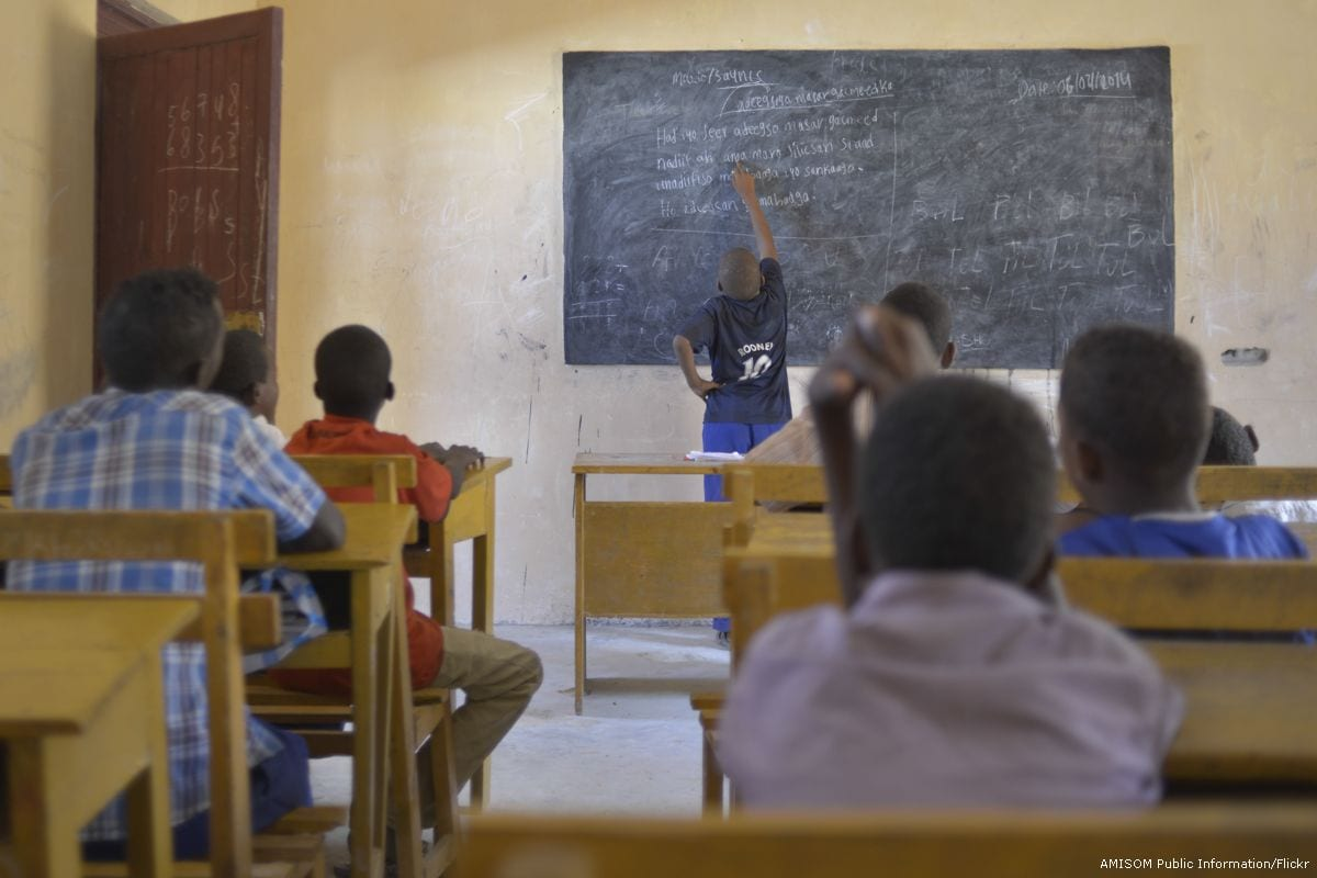 Image of students in a school in Somalia [AMISOM Public Information/Flickr]