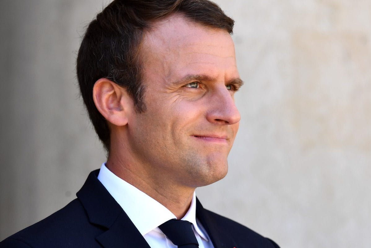 French President Emmanuel Macron at the Elysee Palace in Paris, France on July 16, 2017 [Mustafa Yalçın / Anadolu Agency]