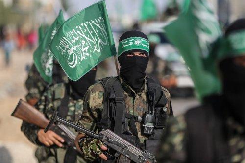 Members of the armed wing of Hamas in Gaza on 20 July 2017 [Mustafa Hassona/Anadolu Agency]