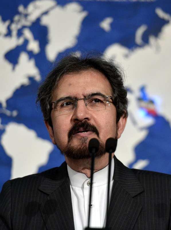 Iranian Foreign Ministry spokesman, Bahram Ghasemi in Tehran, Iran on 24 July 2017 [Fatemeh Bahrami/Anadolu Agency]