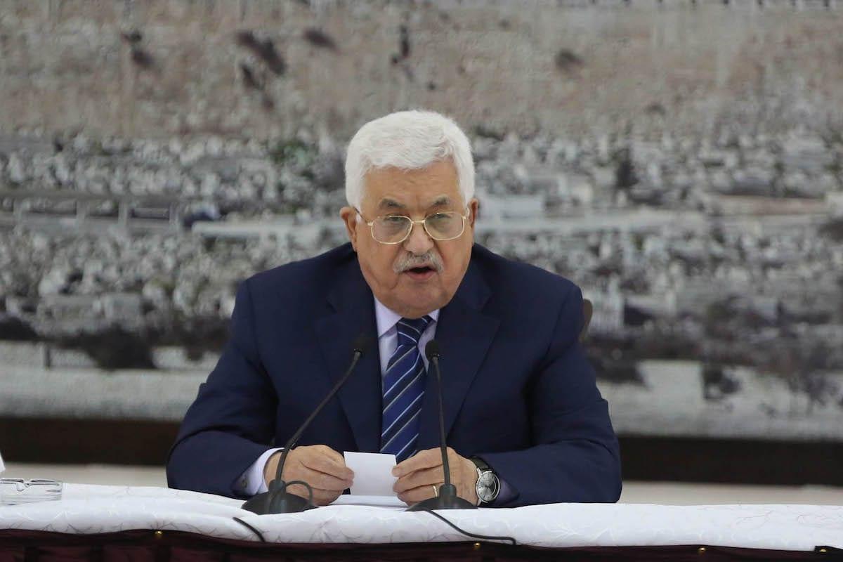 Palestinian President Mahmoud Abbas in Ramallah, West Bank on 25 July 2017 [Issam Rimawi/Anadolu Agency]