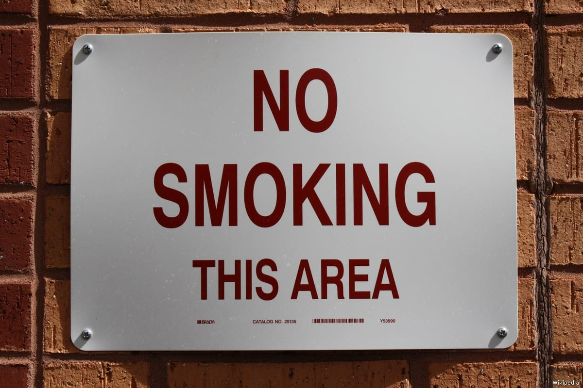 smoking in public places is a public The smoking in public places law also prohibits smoking within 25 feet of entrances, exits, windows that open, and ventilation intakes that serve enclosed areas where smoking is prohibited.