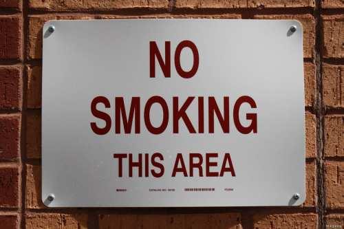 No Smoking sign [Wikipedia]