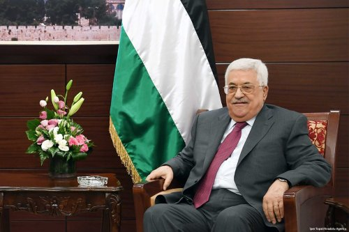 Palestinian President Mahmoud Abbas in Ramallah, West Bank on 22 June 2017 [İper Topal/Anadolu Agency]