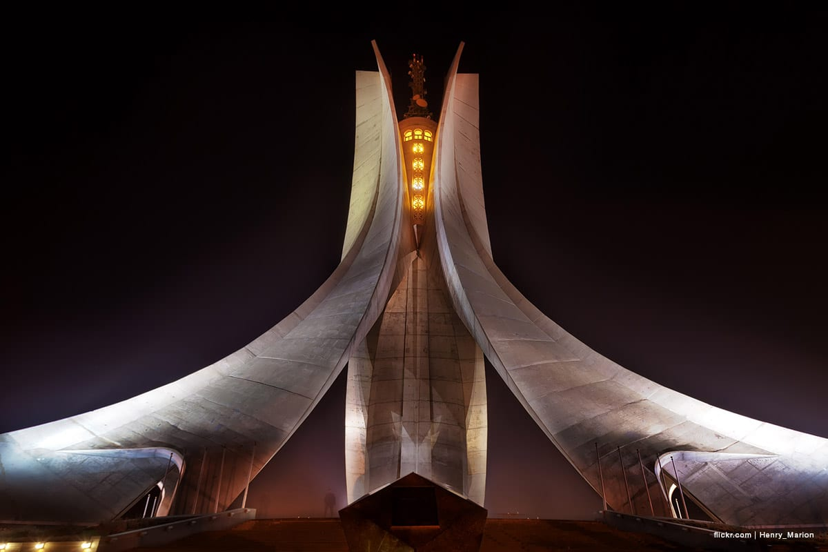 The Maqam Echahid monument in Algeria was erected in memory of those martyred during the Algerian war of independance on it's 20th anniversary. [Image: flickr.com | Henry_Marion]