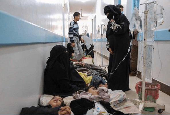 """Yemen is currently witnessing """"the biggest outbreak of cholera in the world"""" according to the World Health Organisation (WHO) [Twitter]"""