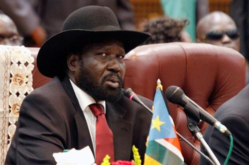 South Sudan's President Salva Kiir seen at a one-day summit on oil on September 3, 2013 in Khartoum [Ashraf Shazly / AFP / Getty Images]