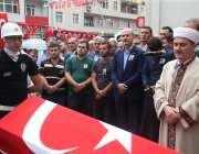 Turkish Interior Minister Suleyman Soylu attends the funeral of 15-year-old Eren Bulbul, killed by PKK militant, in Macka Province of Trabzon, Turkey on August 12, 2017 [Hakan Burak Altunöz / Anadolu Agency]