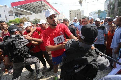 Palestinians in Gaza held a friendly race to mark the success of Palestinian resistance against the Israeli occupation forces during the Day of Rage protests over Al-Aqsa mosque last month. [Image: Mohammad Asad]