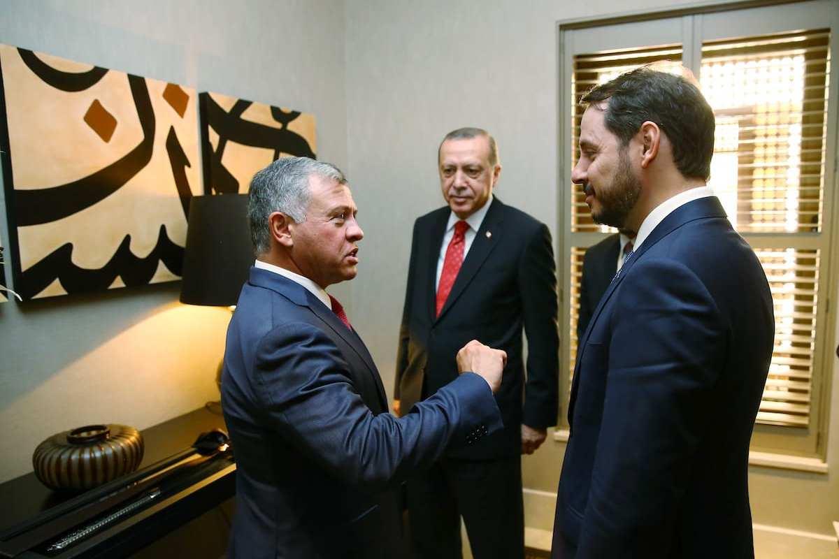 President of Turkey, Recep Tayyip Erdogan (3rd R), Abdullah II (2nd L) attend an inter-delegational meeting at Raghadan Palace in Amman, Jordan on 21 August, 2017 [Kayhan Özer/Anadolu Agency]