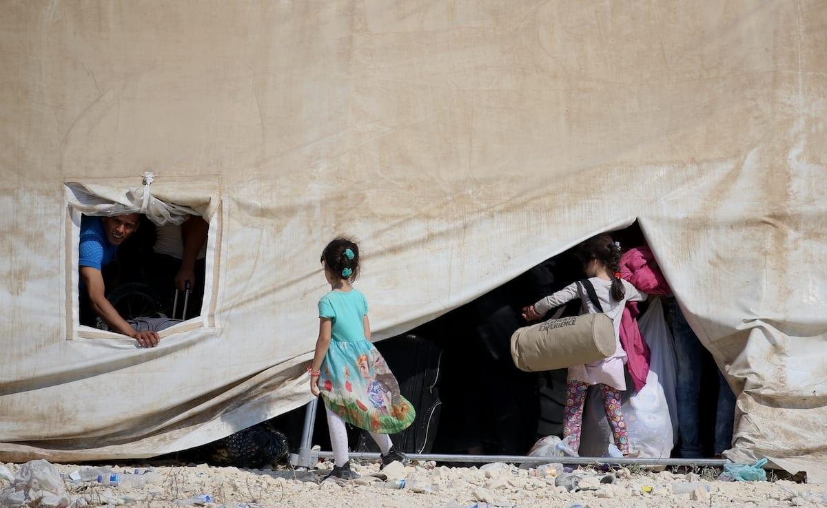 Syrian girls seen at a refugee camp on 29 August 2017 [Ensar Özdemir/Anadolu Agency]