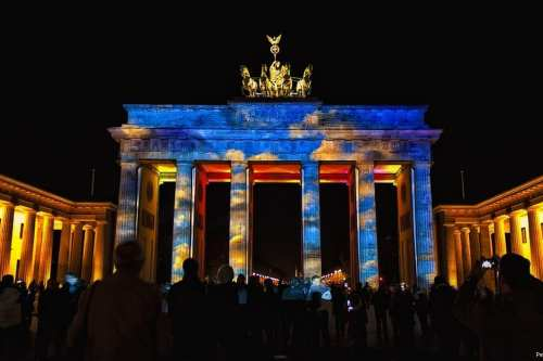 Brandenburg Gate during the Berlin Pop Kulture Festival [Peter Dargatz/FlickR]