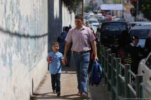 New academic year in Gaza on 23 August, 2017 [Mohammed Asad/Middle East Monitor]