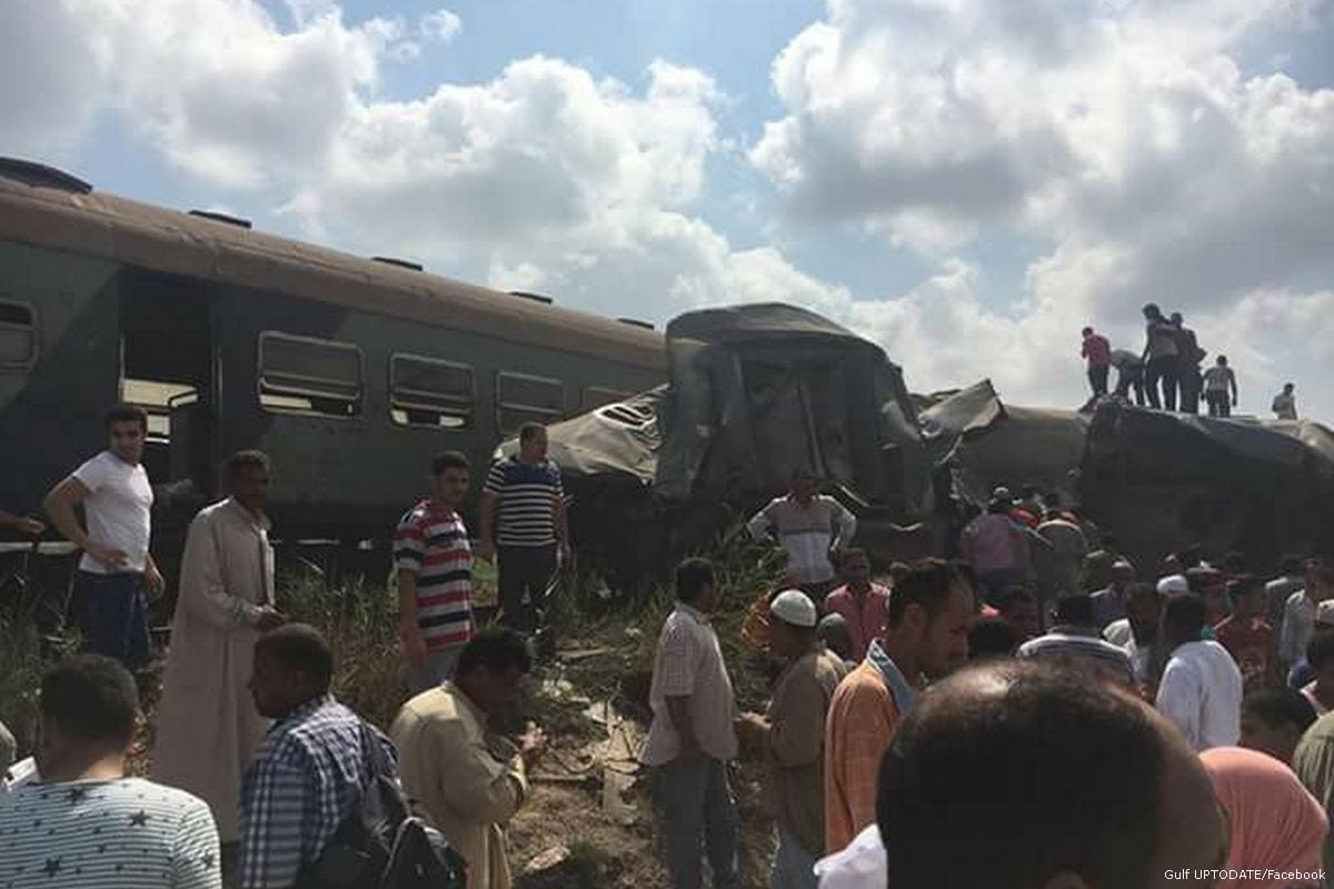 Two Trains Collide in Egypt Leaving at Least 28 Dead, 80 Injured