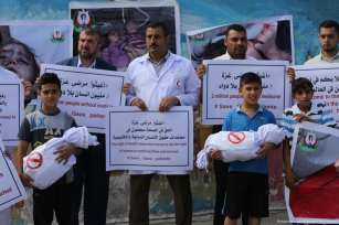 Palestinians protest the visit of United Nations Secretary-General Antonio Guterres on 30 August 2017 [Mohammed Asad/Middle East Monitor]