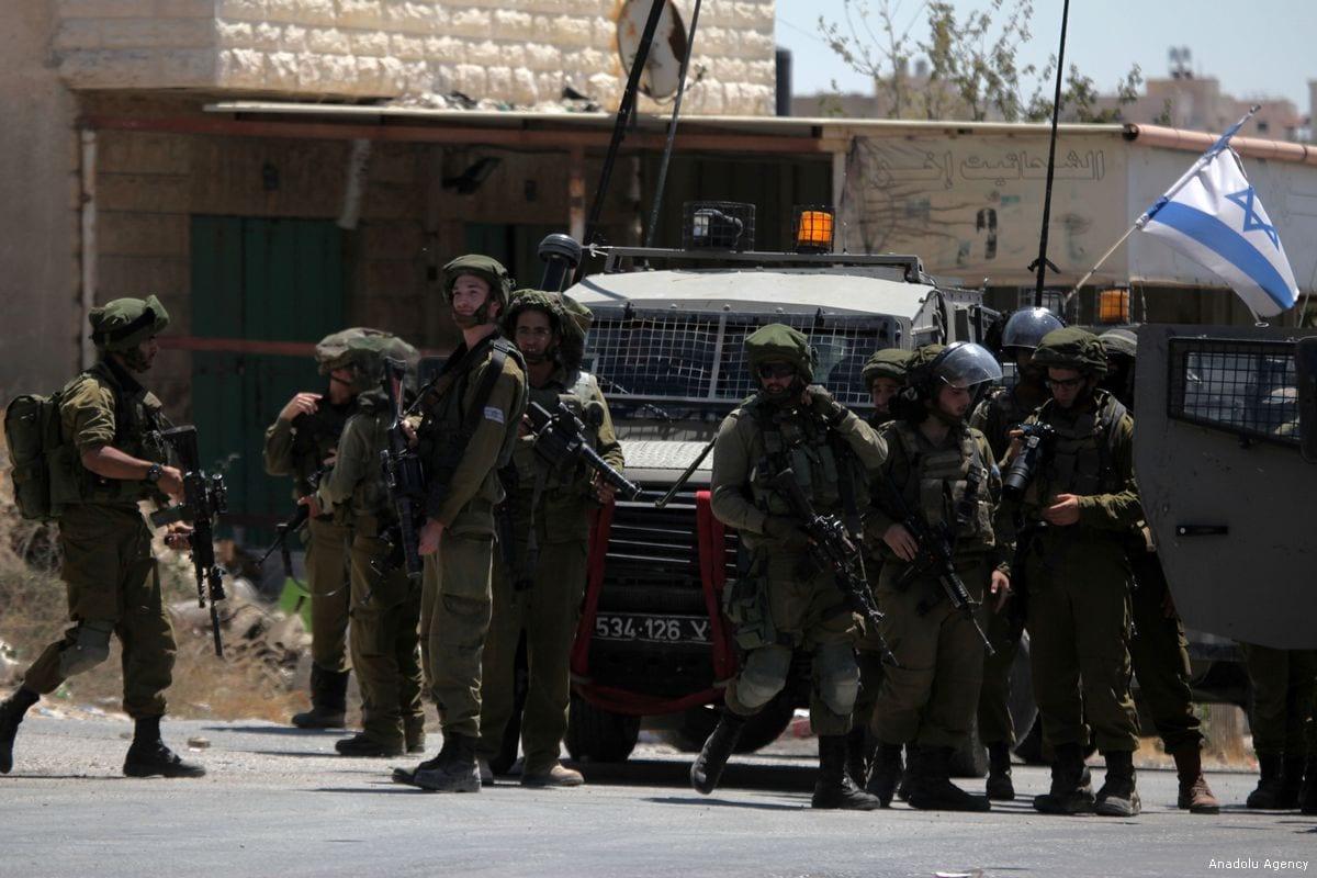 Israeli occupation forces [Mamoun Wazwaz/Anadolu Agency]