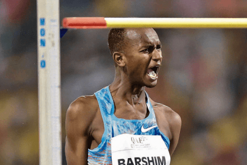 Qatar's Mutaz Essa Barshim qualified for the high jump final at the World Athletics Championships in London, UK, on 11 August 2017. [Twitter/W4watch]