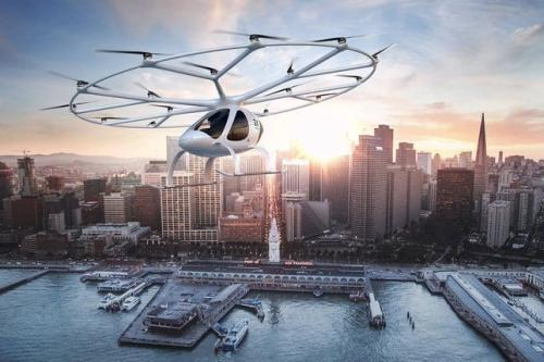 Image of the Autonomous Aerial Taxi [Volocopter]