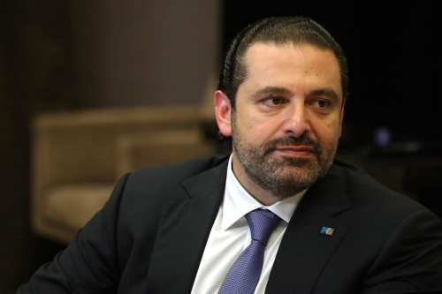 Prime Minister of Lebanon, Saad Hariri in Sochi, Russia on 13 September 2017 [Kremlin Press Centre/Anadolu Agency]