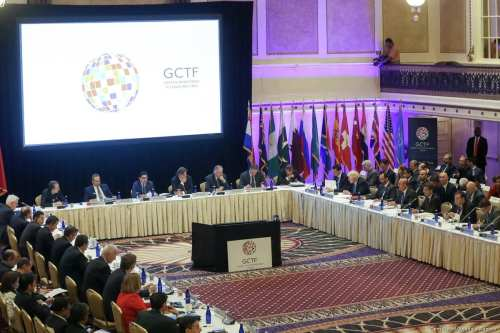 The Minister's meeting of The Global Counterterrorism Forum (GCTF) within the 72nd session of the UN General Assembly held in New York, United States on 20 September, 2017 [Cem Özdel/Anadolu Agency]