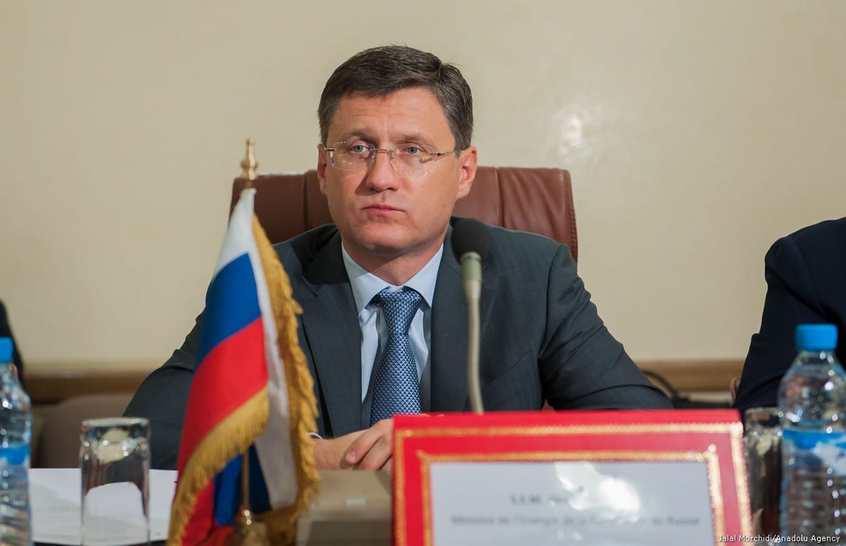 Russian Energy Minister Alexander Novak in Rabat, Morocco on 21 September, 2017 [Jalal Morchidi/Anadolu Agency]