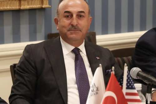 Turkish Foreign Minister Mevlut Cavusoglu attends the meeting of Turkish Heritage Organization in New York, United States on 20 September, 2017 [Cem Özdel/Anadolu Agency]