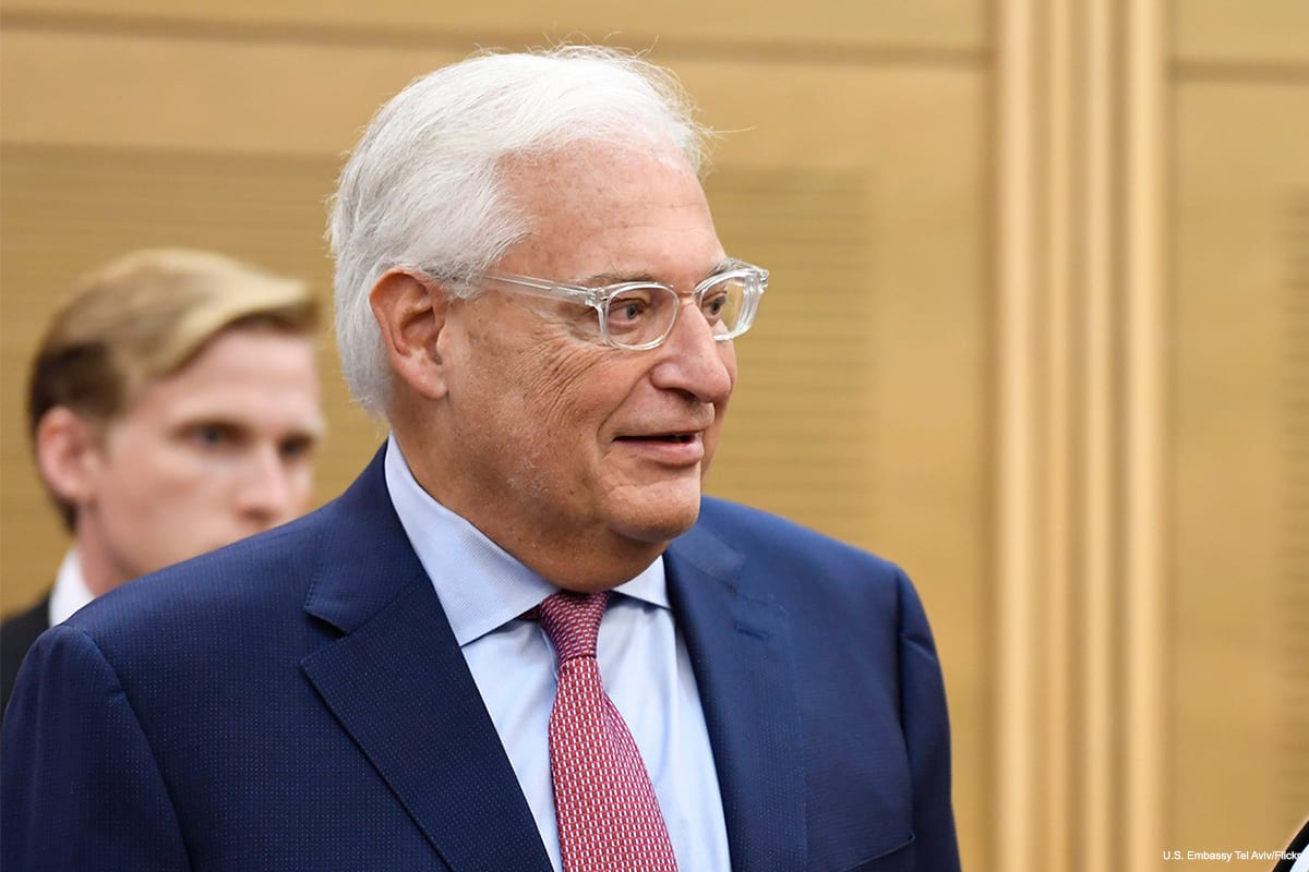 US Ambassador to Israel David Friedman at the Israeli Knesset on 25 July 2017 [US Embassy Tel Aviv/Flickr]
