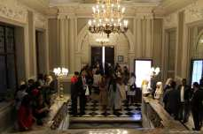 People wait to be seated at London Fashion Week! [Jehan Alfarra/Middle East Monitor]