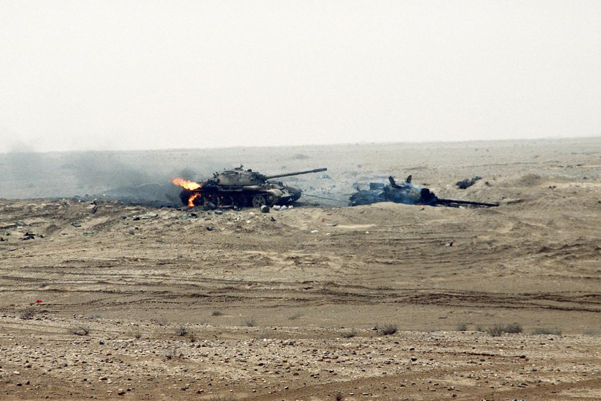 Iraq seeks to postpone war reparation to Kuwait 1280px-Two_damaged_Iraqi_T-55_tanks_during_near_the_Kuwait_border_2