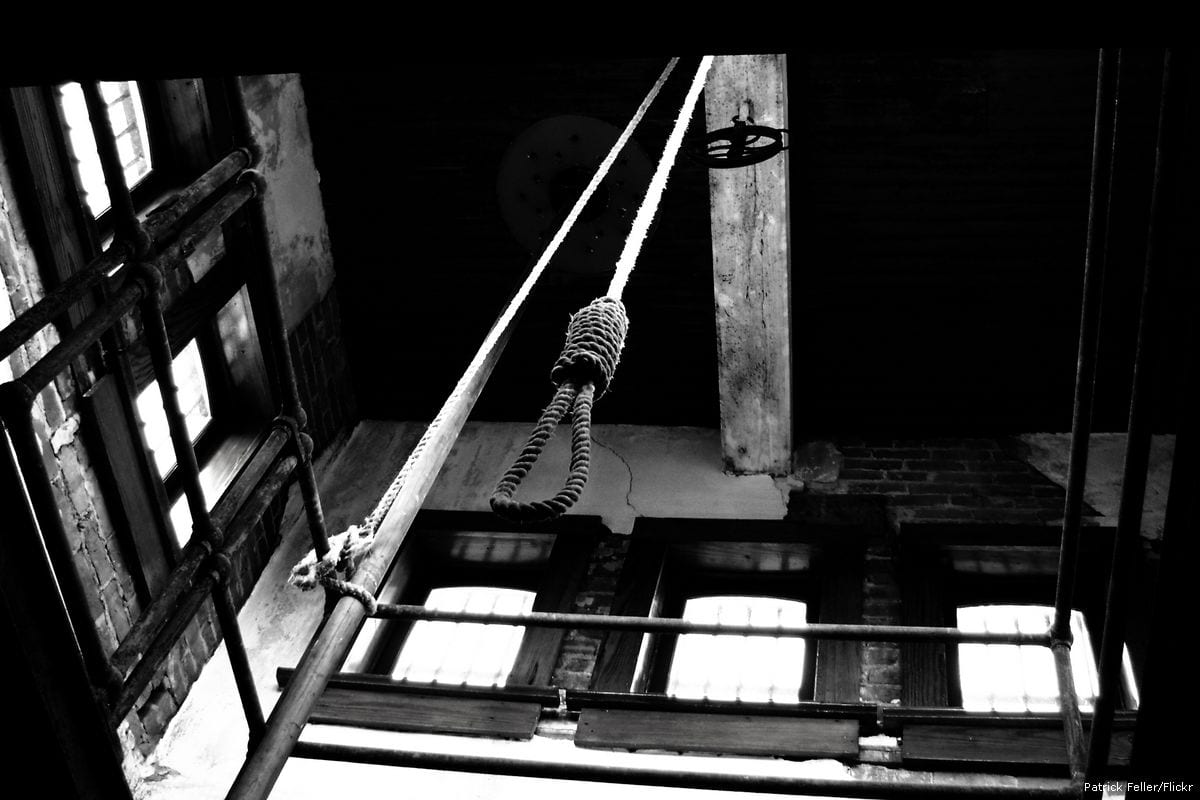 An execution is about to take place using the method of hanging [Patrick Feller/Flickr]