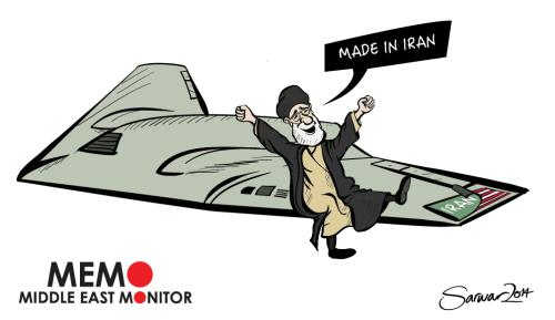 Iran copies US drone - Cartoon [Sarwar Ahmed/MiddleEastMonitor]