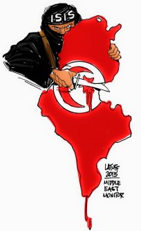 ISIS in Tunisia - Cartoon [Latuff/MiddleEastMonitor]