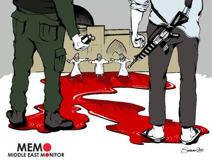 Al-Aqsa Defenders - Cartoon [Sarwar Ahmed/MiddleEastMonitor]