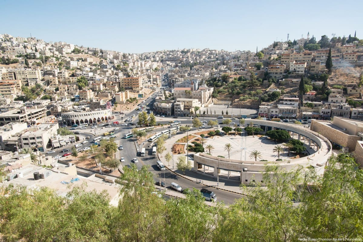 A view of Amman, Jordan, August 2017. [Thomson Reuters Foundation/Nadia Bseiso]