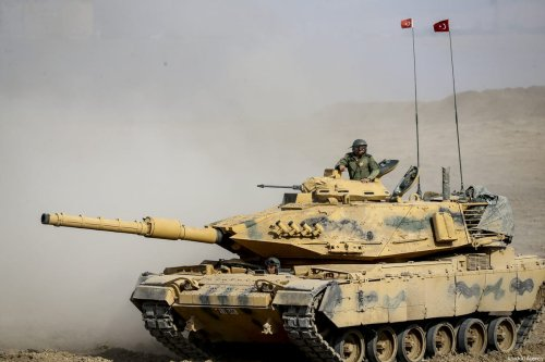 A joint military drill conducted by Turkish Armed Forces with the participation of Iraqi army troops on Turkish-Iraqi border in Silopi district of Sirnak province, Turkey on September 30, 2017 [Fatih Aktaş/Anadolu Agency]