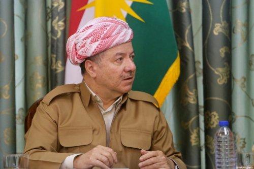 Kurdish Regional Government (KRG) President Masoud Barzani in Suleymaniyah , Iraq on 15 October 2017 [Eriq Fereç/Anadolu Agency]