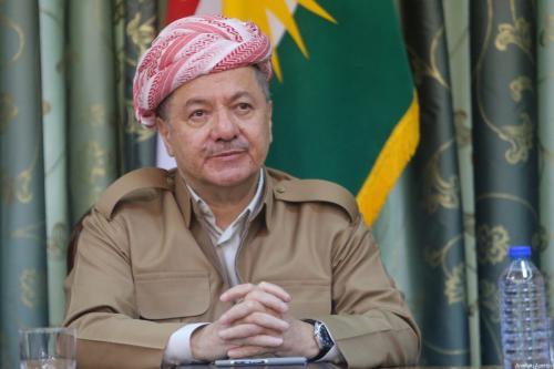 Kurdish Regional Government (KRG) President Masoud Barzani in Iraq on 15 October, 2017 [Feriq Fereç/Anadolu Agency]
