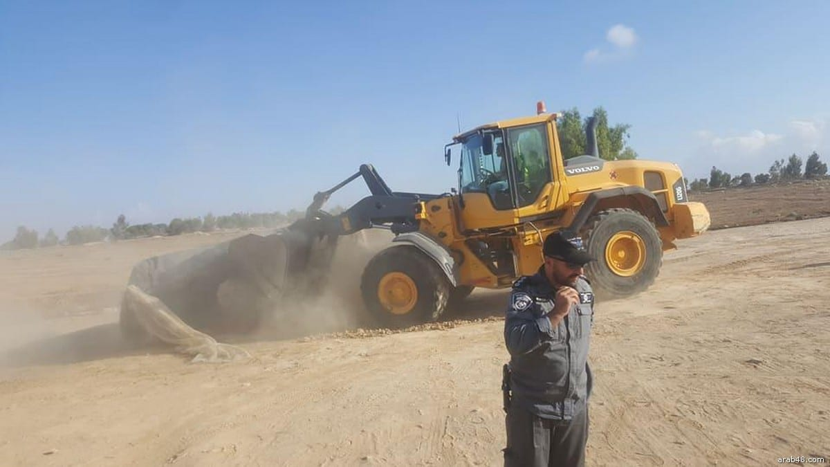 Al-Araqeeb village in the Negev was demolished for the 119th time on 3 October 2017 [arab48.com]